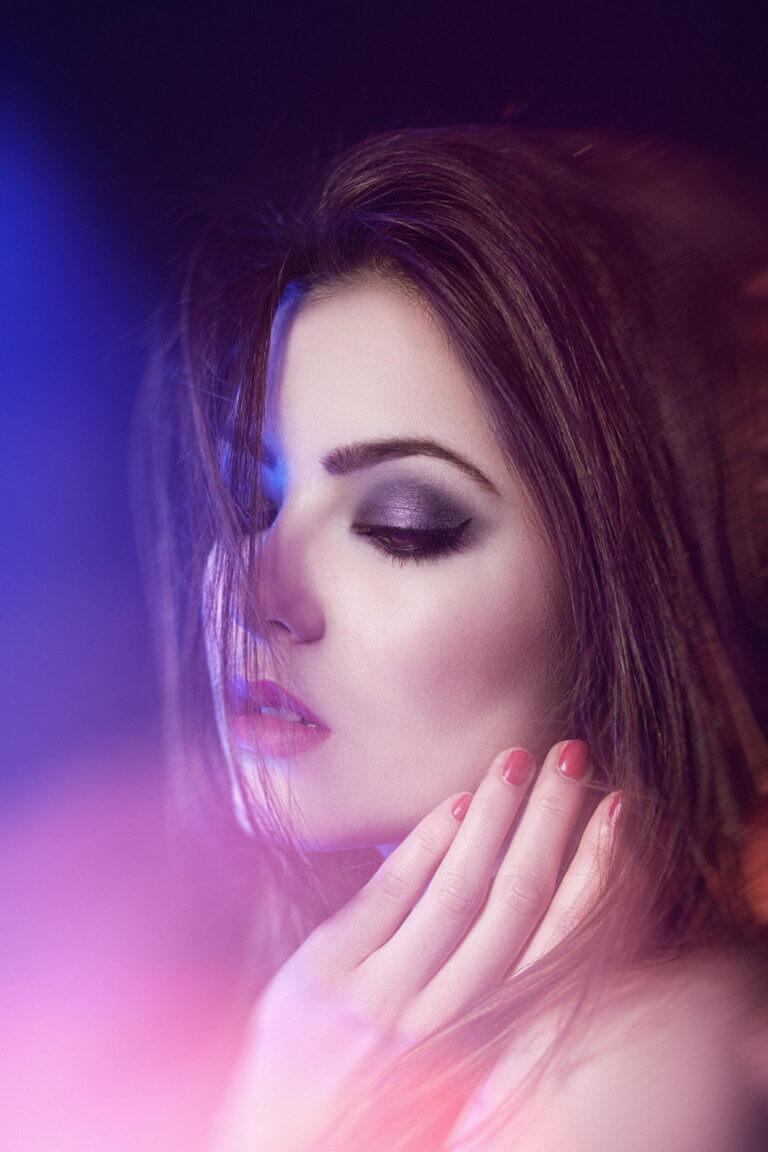fioletowy makijaż warszawa