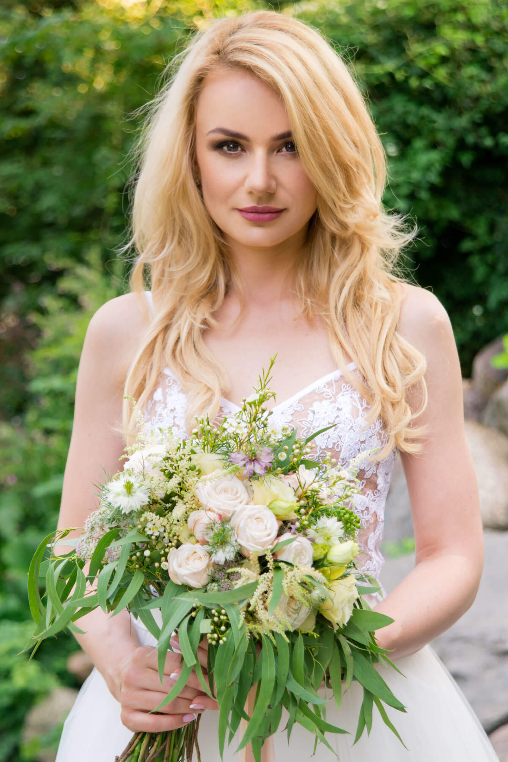 makijaż ślubny sesja
