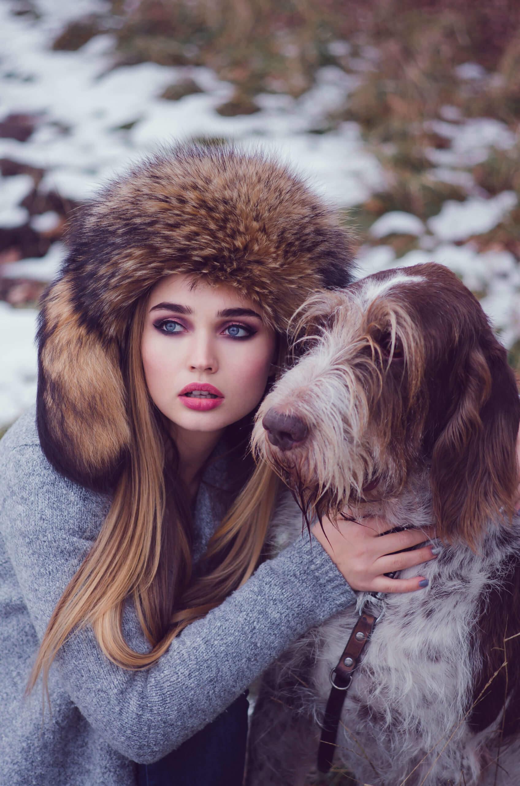 makijaż sesja z psem