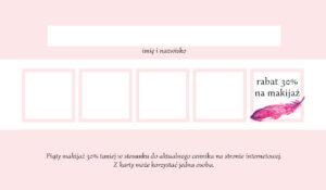 Agata Pustola Makijażystka karta rabatowa cennik makijaż Warszawa