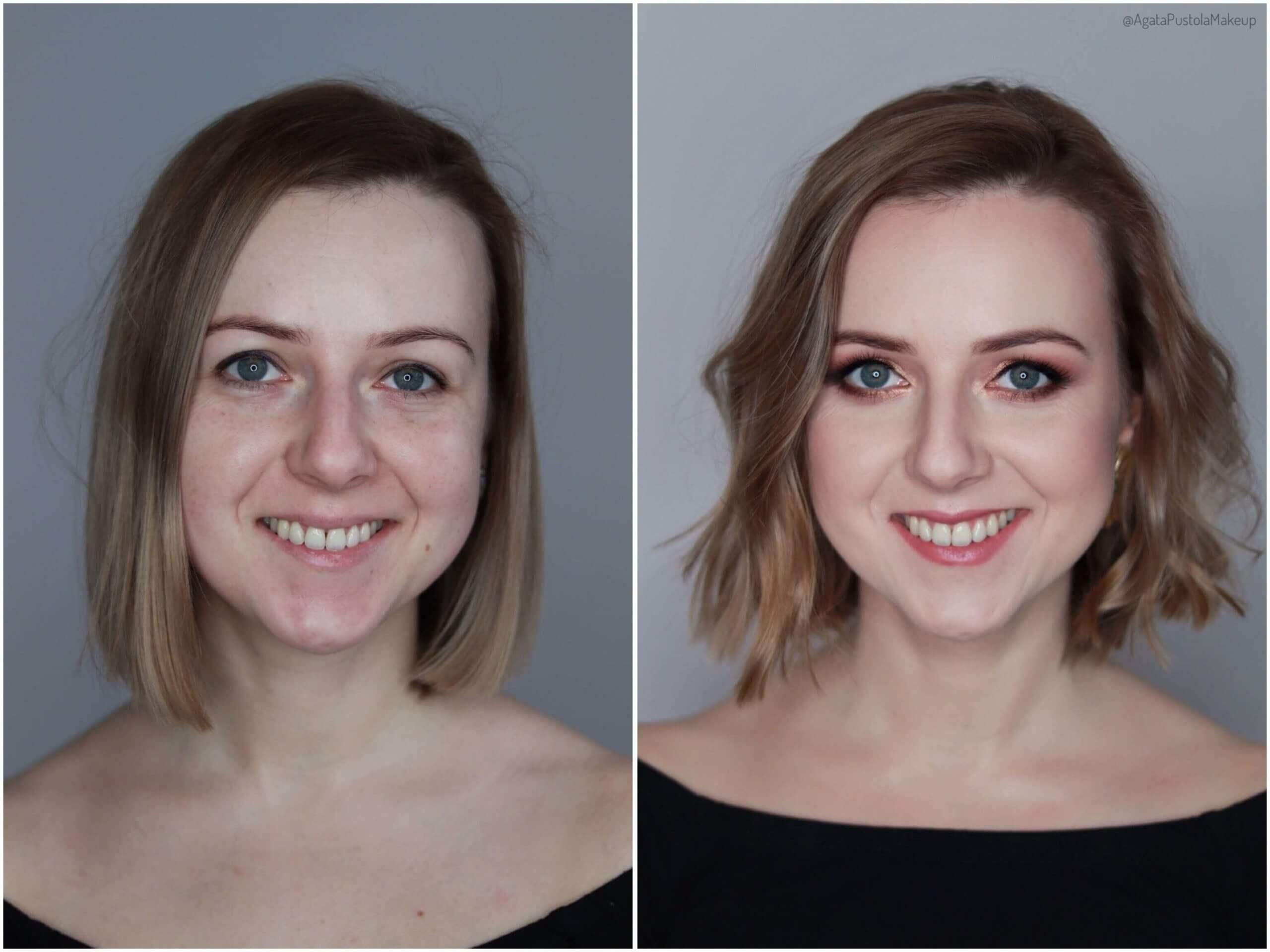 metamorfoza makijaż fryzura loki fale Agata Pustoła Makijażystka