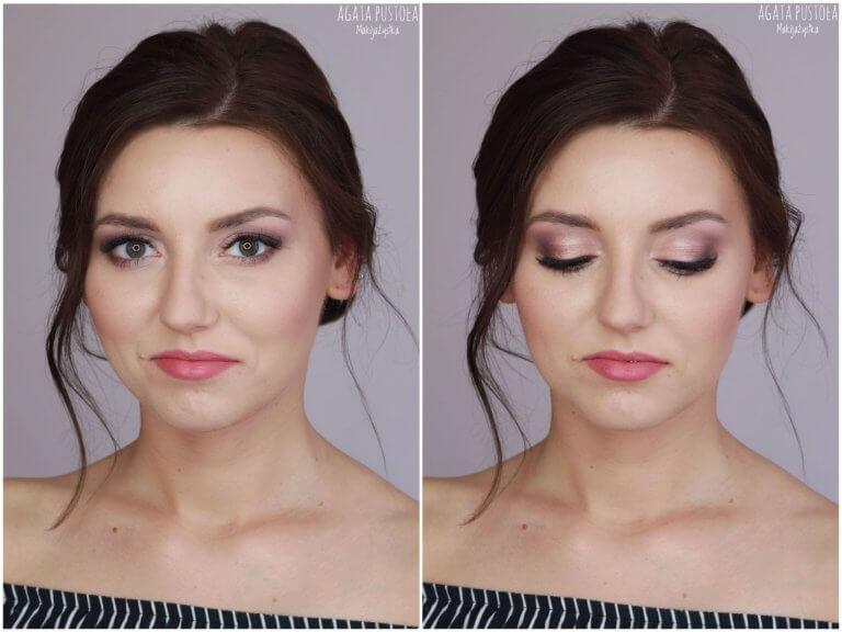 makijaż ślubny Warszawa brunetka