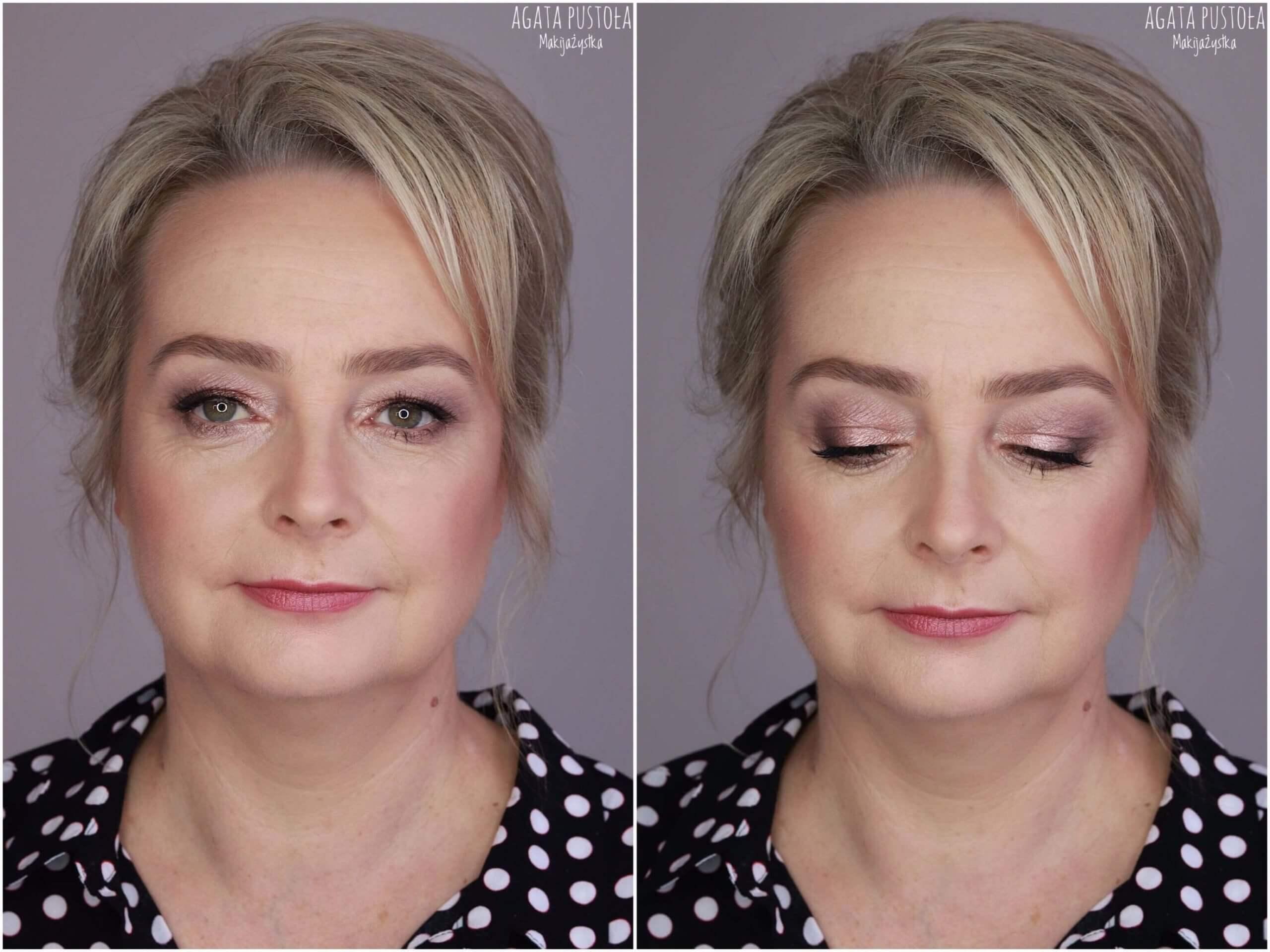 makijaż wieczorowy kobiety dojrzałej makijażystka Warszawa