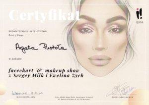 Agata Pustola Makijazystka Certyfikat makeup 2019