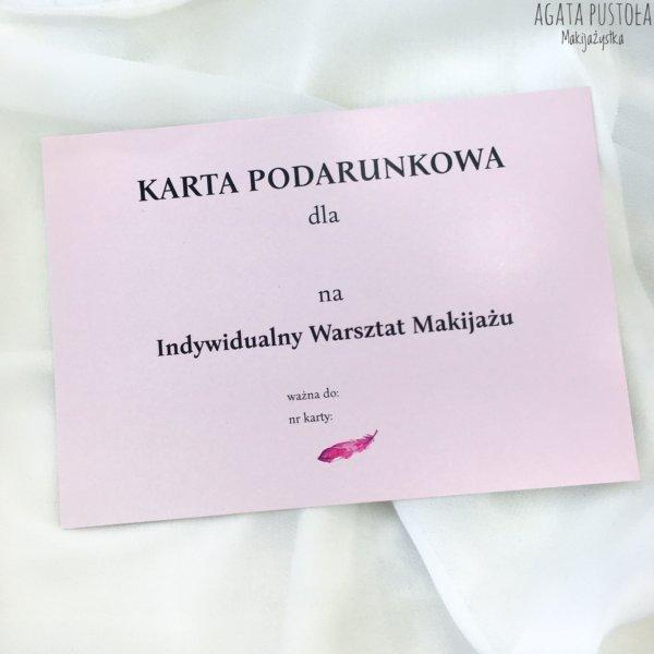 prezent warszawa karta podarunkowa warsztaty makijazu