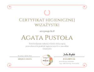 Certyfikat Higienicznej Wizazystki
